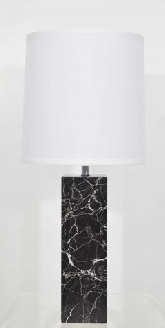 Nessen Studios Nessen Studio Marble Table Lamps in Black Marble - 1370116