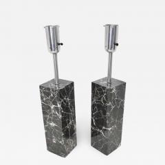 Nessen Studios Pair of Marble Table Lamps by Nessen Studio - 1275843