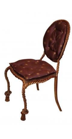 Niccolini Niccolini Pair of Gilt Iron Side Chair - 1611836