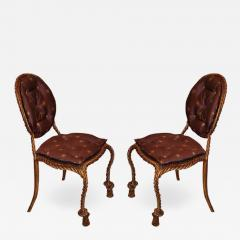Niccolini Niccolini Pair of Gilt Iron Side Chair - 1612493