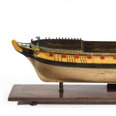 Nicholas Pocock A carved and painted model of HMS Emerald 1811 and HMS Emerald HMS Amethys - 1742536