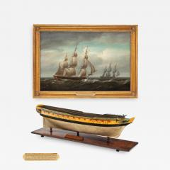 Nicholas Pocock A carved and painted model of HMS Emerald 1811 and HMS Emerald HMS Amethys - 1742849