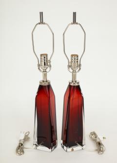 Nils Landberg Nils Landberg Orrefors Ruby Red Crystal Lamps - 774242