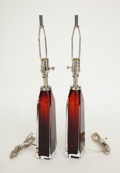 Nils Landberg Nils Landberg Orrefors Ruby Red Crystal Lamps - 774243