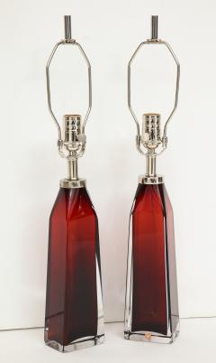 Nils Landberg Nils Landberg Orrefors Ruby Red Crystal Lamps - 774244
