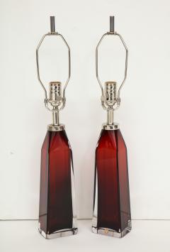 Nils Landberg Nils Landberg Orrefors Ruby Red Crystal Lamps - 774245