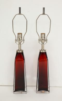 Nils Landberg Nils Landberg Orrefors Ruby Red Crystal Lamps - 774249