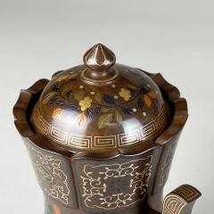 Nogawa A pair of decorative Bronze and multi metal covered vases by Nogawa  - 1724417