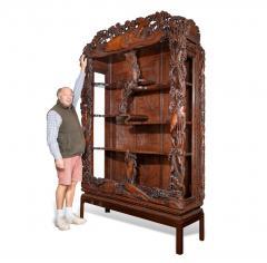 Noguchi of Yokohama A superb Meiji period hard wood display cabinet by Noguchi of Yokahama - 1718915