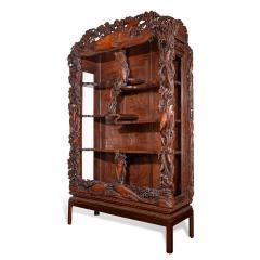 Noguchi of Yokohama A superb Meiji period hard wood display cabinet by Noguchi of Yokahama - 1718916