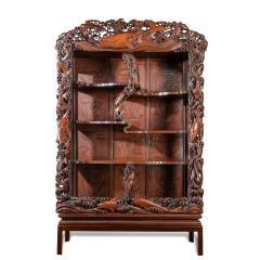 Noguchi of Yokohama A superb Meiji period hard wood display cabinet by Noguchi of Yokahama - 1718918