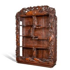 Noguchi of Yokohama A superb Meiji period hard wood display cabinet by Noguchi of Yokahama - 1718920