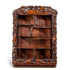 Noguchi of Yokohama A superb Meiji period hard wood display cabinet by Noguchi of Yokahama - 1718921