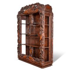 Noguchi of Yokohama A superb Meiji period hard wood display cabinet by Noguchi of Yokahama - 1718922