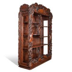 Noguchi of Yokohama A superb Meiji period hard wood display cabinet by Noguchi of Yokahama - 1718923