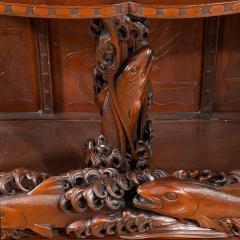 Noguchi of Yokohama A superb Meiji period hard wood display cabinet by Noguchi of Yokahama - 1718924
