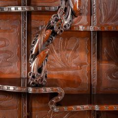 Noguchi of Yokohama A superb Meiji period hard wood display cabinet by Noguchi of Yokahama - 1718925