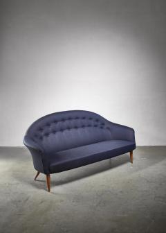 Nordiska Kompaniet Kerstin Holmquist blue 3 seater Paradiset sofa - 1376569