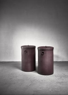 Nordiska Kompaniet Pair of Nordiska kompaniet laundry baskets - 1200382