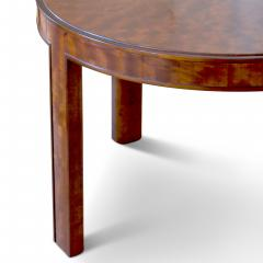 Nordiska Kompaniet Round Coffee Side Table with Articulated Edging in Birch by Nordiska Kompaniet - 475809