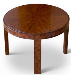 Nordiska Kompaniet Round Coffee Side Table with Articulated Edging in Birch by Nordiska Kompaniet - 475810