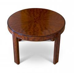 Nordiska Kompaniet Round Coffee Side Table with Articulated Edging in Birch by Nordiska Kompaniet - 475811