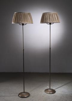 Nordiska Kompaniet Tall Pair of Nordiska Kompaniet height adjustable floor lamps - 2068547