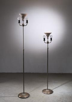 Nordiska Kompaniet Tall Pair of Nordiska Kompaniet height adjustable floor lamps - 2068548