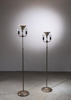 Nordiska Kompaniet Tall Pair of Nordiska Kompaniet height adjustable floor lamps - 2068549