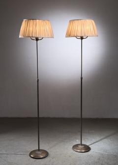 Nordiska Kompaniet Tall Pair of Nordiska Kompaniet height adjustable floor lamps - 2068551