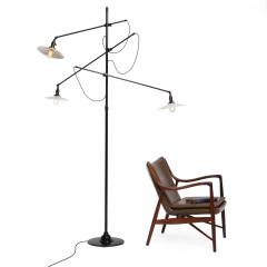O C White O C WHITE ADJUSTABLE 3 ARM FLOOR LAMP - 1603311
