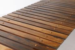 OCA MId Century Modern Slatted Bench by OCA Brazil 1950s - 2095363