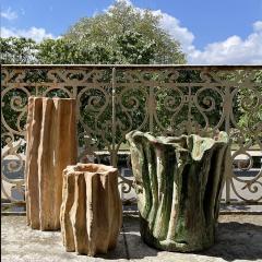 Oak Design Studios CACTEE Pair of terracotta garden pots with natural patina - 2099248