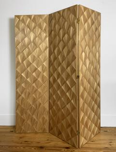 Oak Design Studios FRANKIE Straw Marquetry screens - 1156386