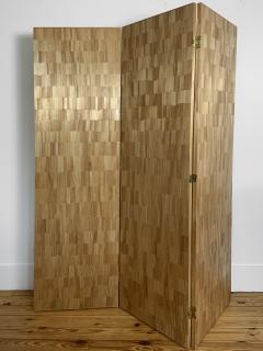 Oak Design Studios FRANKIE Straw Marquetry screens - 1156408