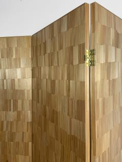 Oak Design Studios FRANKIE Straw Marquetry screens - 1156423