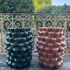 Oak Design Studios PALMAE GRASSGREEN Enameled terracotta garden pot - 1434375