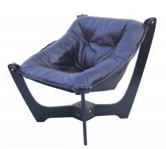Odd Knutsen Luna Brown Leather Sling Chair with Ottoman Odd Knutsen - 1768682