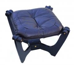 Odd Knutsen Luna Brown Leather Sling Chair with Ottoman Odd Knutsen - 1768685