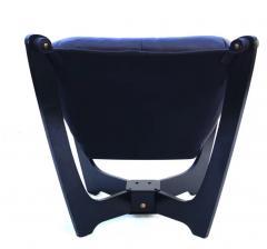 Odd Knutsen Luna Brown Leather Sling Chair with Ottoman Odd Knutsen - 1768687
