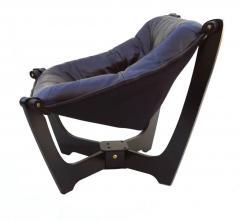 Odd Knutsen Luna Brown Leather Sling Chair with Ottoman Odd Knutsen - 1768689