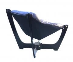 Odd Knutsen Luna Brown Leather Sling Chair with Ottoman Odd Knutsen - 1768690