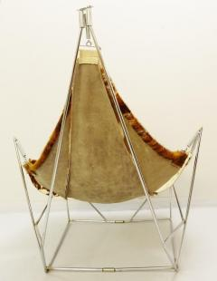 Odile Mir 1970s Cow Hide Chair By Odile Mir France  - 1715339