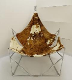 Odile Mir 1970s Cow Hide Chair By Odile Mir France  - 1715350