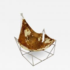 Odile Mir 1970s Cow Hide Chair By Odile Mir France  - 1718016