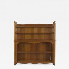Old Hickory Furniture Co American Old Hickory style 1950s Pine 2 Section Back Bar Cabinet - 649032