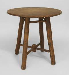 Old Hickory Furniture Co American Rustic Old Hickory Round Oak Top End Table    648213