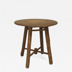 Old Hickory Furniture Co American Rustic Old Hickory Round Oak Top End Table - 649023
