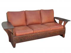 Old Hickory Furniture Co Hickory 1930 s Paddle Arm Sofa w - 1031545