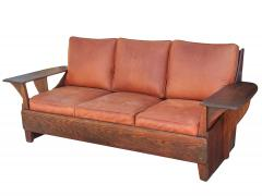 Old Hickory Furniture Co Hickory 1930 s Paddle Arm Sofa w - 1031546